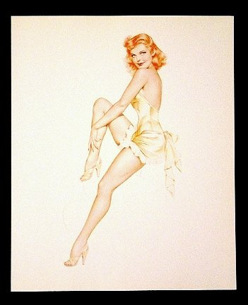 Varga-Vargas * REDHEAD * Pin Up Collectors Print ~ Mint
