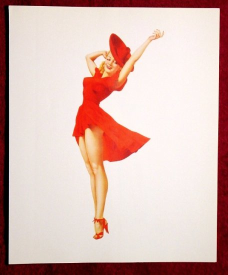 Varga-Vargas * WINDY GIRL * Pin Up Collectors Print ~ Mint