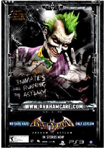 BATMAN : ARKHAM ASYLUM Game Poster SET  2' x 3' Very Rare 2009 MINT