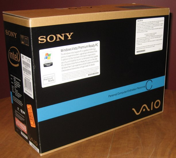 "Sony Vaio * BOX ONLY * for 13""inch 1.66ghz C 210 E/H Laptop NEW"