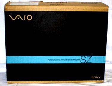 """Sony Vaio * BOX ONLY * for 13""""inch 2.00ghz SZ 460 N/C Laptop NEW"""