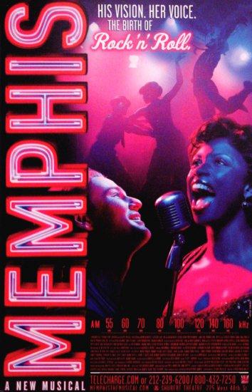 "David Bryan's * MEMPHIS * Broadway Poster 14"" x 22"" Rare 2009 MINT"