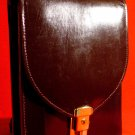 Official Military Issue Leather Shoulder Sling Satchel * EASTERN BLOCK * Dark Brown MINT