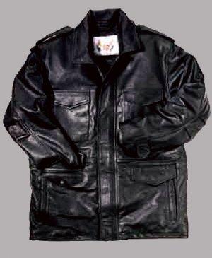 Neil Cooper Army M-65 Leather * FIELD JACKET * Dark Brown 3XL NEW