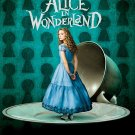 Tim Burton's Alice in Wonderland Original Movie Poster * ALICE * 4' x 6' Rare 2010 NEW