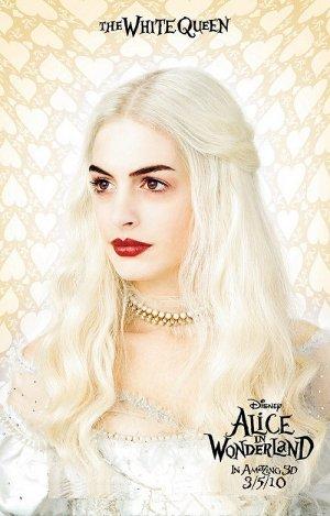 Burton's Alice in Wonderland Orig Movie Poster Anne Hathaway * WHITE QUEEN * 4' x 6' Rare 2010 NEW