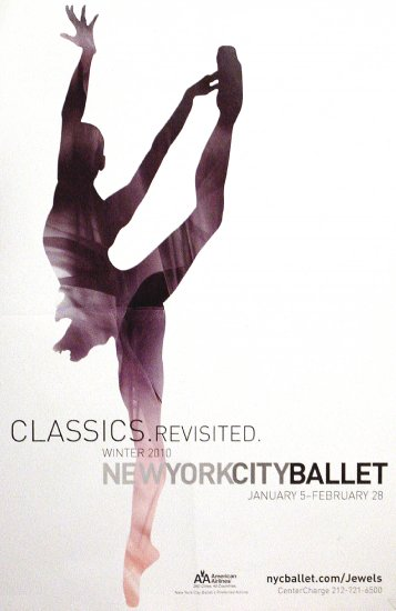 NYC BALLET Poster * WINTER SEASON * 2' x 3' Rare 2010 Mint