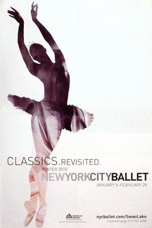 NYC BALLET Poster * WINTER SEASON * 2' x 3' Rare 2010 Mint
