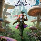 Tim Burton's Alice in Wonderland Movie Poster Johnny Depp * MAD HATTER * 4' x 6' Huge Rare 2010 NEW