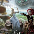 Tim Burton's Alice in Wonderland Orig Movie Poster * RED QUEEN / WHITE QUEEN * 4' x 6' Rare 2010 NEW