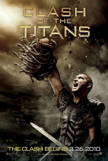 CLASH OF THE TITANS Orig Movie Poster * MEDUSA  * 4' x 6' Huge Rare 2010 NEW