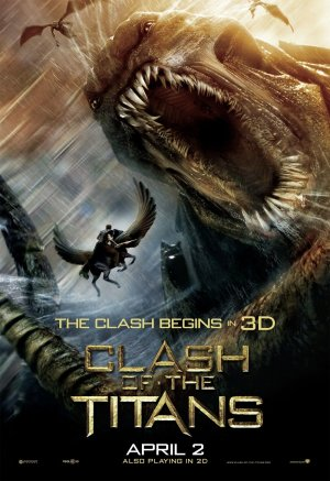 CLASH OF THE TITANS Orig Movie Poster * KRAKEN  * 4' x 6' Huge Rare 2010 NEW