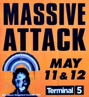 MASSIVE ATTACK * Terminal 5 * Music Concert Poster 2' x 2' Rare 2010 NEW