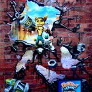 RATCHET & CLANK Original Game Poster * SUCK CANNON * 4' x 6' Rare 2007 MINT