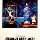 Absolut Berri Acai Vodka Original AD Poster 2' x 3' Rare 2010 Mint