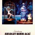 Absolut Berri Acai Vodka Original AD Poster 2' x 3' Rare 2010 Mint