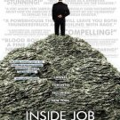 "INSIDE JOB  Original Movie Poster  * MATT DAMON * 27"" x 40"" Rare 2010 NEW"