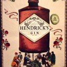 Hendrick's Gin Original AD Poster * MOST UNUSUAL GIN * Big Wheel Bicycles 2' x 3' NEW 2010 Rare