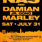 NAS & Damian Marley *WILLIAMSBURG NYC* Orig Music Concert Poster 2'x3' Rare 2010 NEW