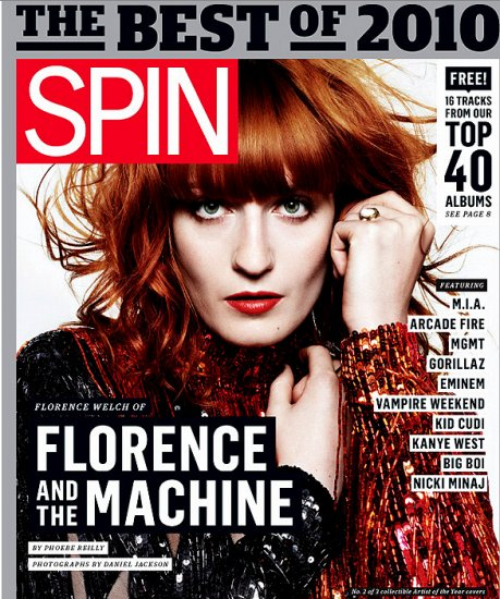 Florence And The Machine * SPIN Magazine Cover * Original Music Poster 2' x 3' Rare 2011 NEW