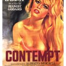 "Godard's CONTEMPT Movie Poster * BRIDGET BARDOT * 27"" x 40"" Rare 1998 NEW"