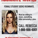 THE ROOMMATE Original Movie Poster * Leighton Meester * 2' x 3' Rare 2011 NEW