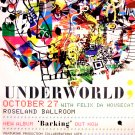 UnderWorld * BARKING * Original Concert Music Poster Roseland Ballroom NYC 2' x 3' Rare 2010 NEW