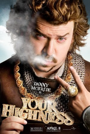 YOUR HIGHNESS Original Movie Poster * Danny McBride * HUGE 4' x 6' Rare 2011 Mint