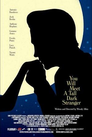 """You Will Meet a Tall Dark Stranger Original Movie Poster 27"""" x 40"""" Rare 2010 Mint"""