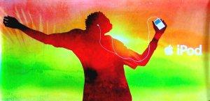 iPod Original AD Poster TROPICS Huge 3' x 6' Rare 2007 Mint