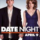 "DATE NIGHT Original Movie Poster * Steve Carell & Tina Fey * 27"" x 40"" Rare 2010 Mint"