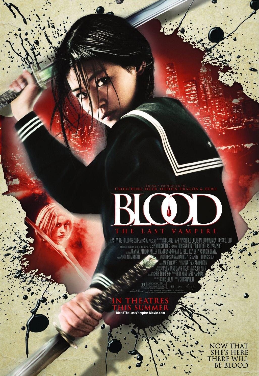 "BL00D: The Last Vampire Original Movie Poster 27"" x 40"" Rare 2009 Mint"