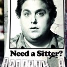 THE SITTER Original Movie Poster * Jonah Hill * HUGE 4' x 6' Rare 2011 Mint