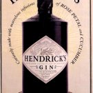 Hendrick's Gin Original AD Poster * A MOST UNUSUAL GIN * 2' x 3' NEW 2009 Rare