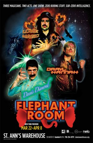 "Elephant Room Original Theater Poster * St. Ann�s Warehouse * 14"" x 22"" Rare 2012 Mint"