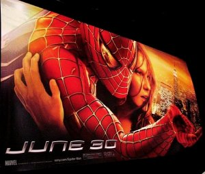 SPIDERMAN 2 Movie Poster * TOBY MAGUIRE & KRISTEN DUNST * 3' x 6' Rare 2004 NEW