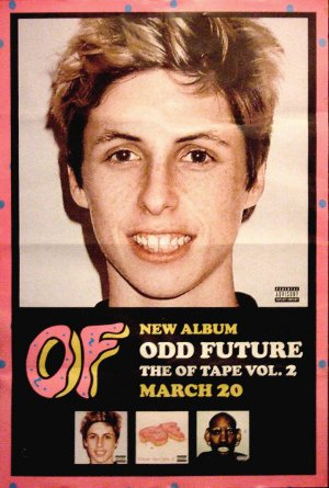 Odd Future OFWGKTA * OF TAPE VOL 2 * Original Music Poster 3' x 4' Rare 2012 Mint