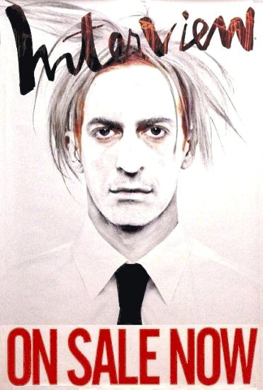 INTERVIEW MAGAZINE Original AD Poster MARC JACOBS by Mikael Jansson ANDY WARHOL Issue 2'x3'Rare 2008