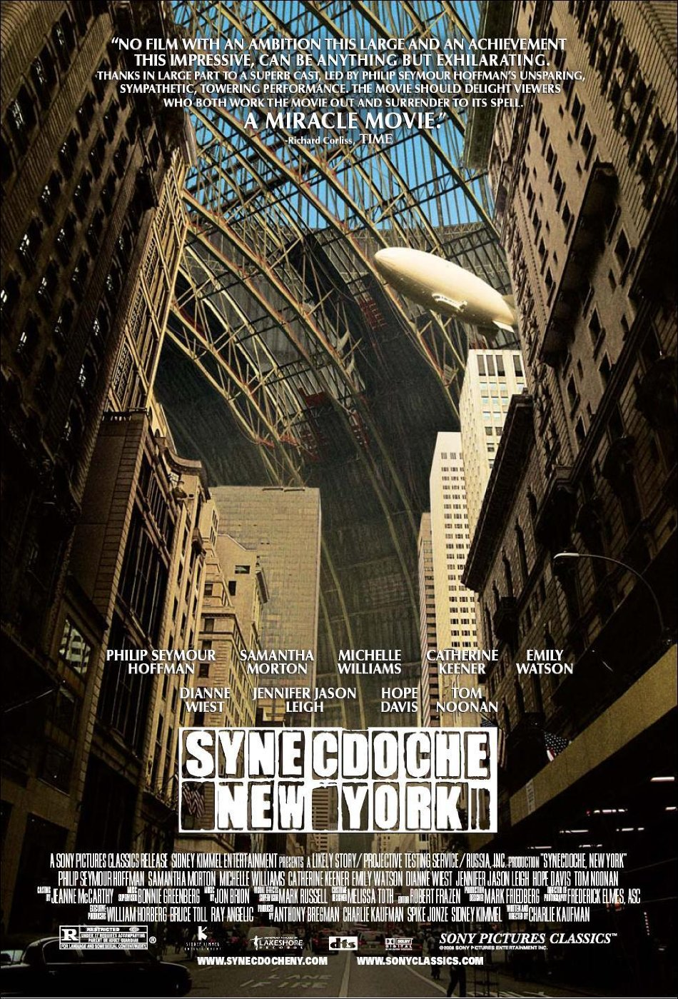 "SYNECDOCHE, NEW YORK Original Movie Poster * PHILIP SEYMOUR HOFFMAN * 27"" x 40"" Rare 2008 Mint"