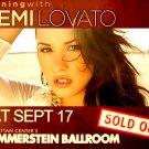 "Demi Lovato Original Concert Poster * Hammerstein Ballroom NYC * 17"" x 22"" Rare 2011 Mint"