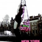 Robin Ruth * NEW YORK in AMSTERDAM * Original Fashion Poster 2' x 2'  Rare 2011 Mint