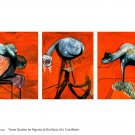 Francis Bacon Orig Art Poster * THREE STUDIES FOR THE BASE OF A CRUCIFIXION * 2' x 3' Rare 2000 Mint