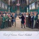 """Court of Common Council Original Art Print * T. H. Shepard / H.Melville * 18"""" x 22"""" Rare 1984 Mint"""