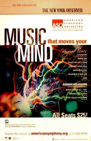 """American Symphony Orchestra Original Concert Poster * Vanguard Series * 14"""" x 22"""" Rare 2011 Mint"""