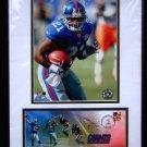 """Tiki Barber * Super Bowl GIANTS * Commemorative 12"""" x 16"""" Rare 2004 Mint"""