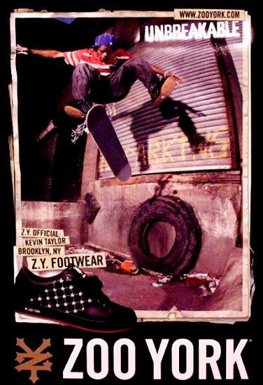 ZOO YORK NYC Original Skateboard Poster 2' x 3' NEW Rare 2007