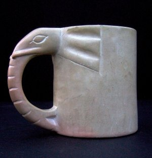 Vintage Elephant Soapstone Mug Large MINT