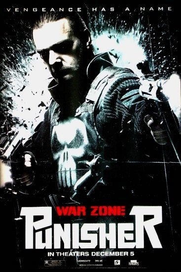 The Punisher WAR ZONE Original Movie Poster * RAY STEVENSON & DOMINIC WEST * 4' x 6' Rare 2008 Mint