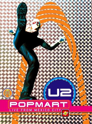 U2 POPMART Live From Mexico City Original Poster 2' x 3' Rare 2007 MINT