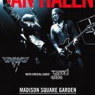 VAN HALEN Original Concert Poster * Madison Square Garden NYC * Huge 4' x 6' Rare 2012 Mint
